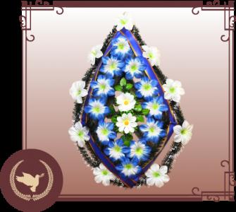 Венок из искусственной хвои с цветами Р-21
